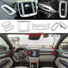 For Volvo XC40 2019-2020 Matte silver dashboard air socket frame cover Trim 6pcs
