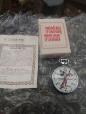 VINTAGE BRADLEY MICKEY POCKET WATCH  MADE IN GREAT BRITAIN WITH BOX/PAPERWORK
