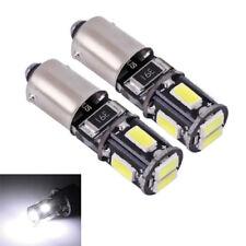 2 lampadine a LED H6W / BAx9s Bianco smd per il luci posizione luci di posizione