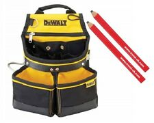 Dewalt DWST1-75650 Heavy Duty Tool Belt Nail Pouch + 2 Trend Carpenters Pencils