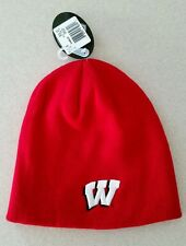 NWT Top of the World Adult WISCONSIN BADGERS EZ Dozit Knit Cap WINTER Hat 31015