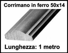 barra ferro battuto corrimano sagomato pieno per barriere 50x14 cm 100