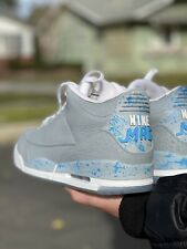 """Air Jordan 3 """"Nike Mag"""" @billboardwalking mens Size 12 Custom Made Brand New"""