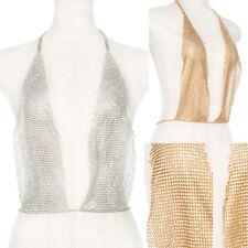 Women Metal Bra Chain Top Body Bikini Jewelry Waist Harness Rhinestone Bralette