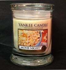 Yankee Candle MOVIE NIGHT Buttered POPCORN 8 oz Footed TUMBLER Retired MAN LINE