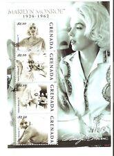 Grenada Actress Marilyn Monroe 4 Stamp Sheet