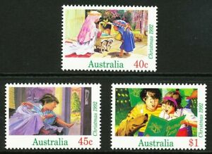 Australian 1992 Christmas, set of 3, Mint Never Hinged