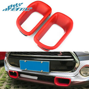 Car Front Bumper Air Vented Duct Cover Red For Mini Cooper S ONE R60 Countryman
