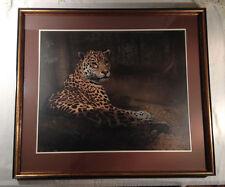 """Charles Frace """"Jaguar"""" Limited Edition S/N  Framed & Matted Mint Cond Large"""