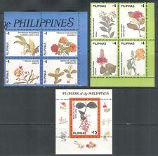 PHILIPPINES 1998, FLOWERS, Scott 2533-2535, MNH