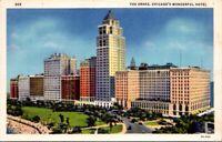Vintage Postcard The Drake Lake Shore Drive Chicago Wonderful Hotel Unposted