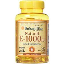 Puritans Pride Vitamin E-1000 Iu Mixed Tocopherols Natural-100 Softgels, 100