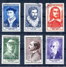 stamp / TIMBRE FRANCE OBLITERE  SERIE N° 1066/1071 CELEBRITE / COTE 51 €