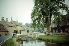 Vintage Slide Negative : Rural Village, Rural House, Canal & Bridge Scenery