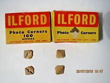 Vintage ILFORD PHOTO MONTAGE coins 2 boîtes