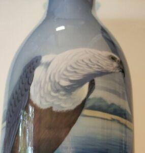 Jugendstil Große Vase 40,5 cm, Fraureuth, Kunstabteilung, Vogelmotiv, Adler Rar
