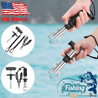 Fishing Hook Remover Fish Lip Grip Gripper Pliers Scissors Cutter Tackles Tool