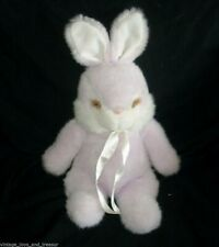"12"" VINTAGE SUMMIT CORP PURPLE & WHITE BUNNY RABBIT STUFFED ANIMAL PLUSH TOY"