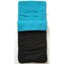 New Black Turquoise Blue fleeced cosytoes footmuff for pushchair buggy HAUCK+