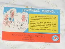 1949-1954 Pontiac Reminder Post Card - Something's Missing... Barbershop Quartet