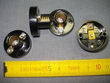douille sur patère E.10 en isolant noir 12 volts, jouets, maquettes, ...