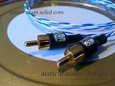 "Auricle Audio Design ""Encore!"" Micro-Mass Solid Core (MMSC) RCA 1 meter Pair"