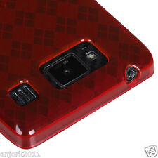 Motorola Droid Razr Maxx HD Candy Skin Gel Cover Soft Case Red Checker