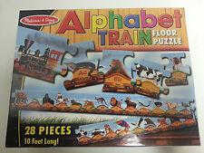 Melissa and Doug Alphabet Train Floor Puzzle 28 Piece 10 Feet Long Animal EUC