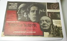 1962 TALES OF TERROR Large Press Book Kit VINCENT PRICE Horror RARE FN- 14 pgs