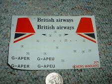 Airfix decals 1/144 Vickers Vanguard British Airways    G26