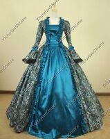 Renaissance Faire Maiden Ball Gown Dress Reenactment Theater Punk Clothing 119