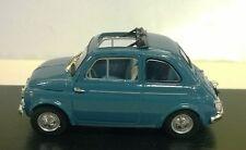 BRUMM 1:43 DIE CAST AUTO FIAT NUEVO 500D ABIERTO 1960 AZUL FLORENTINO R404-07