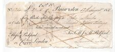 GB NORTHANTS Cheque CANALS 1815 *Thos Pickford* PRIVATE PARCELS CARRIER HH180