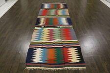 Traditional Vintage Persian Wool  3.3 X 10 Oriental Rug Handmade Carpet Rugs