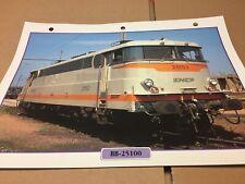 061 locomotive BB-25100 1965 Fiche collection ATLAS trains de légende