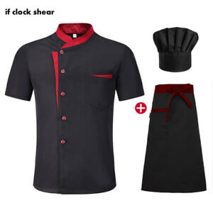 High Quality unisex chef uniform Hotel Kitchen work clothes Short Sleeved Chef