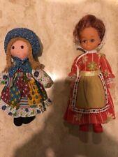 Lot of 2 Vintage 1970's dolls including Holly Hobbie Doll Knickerbocker