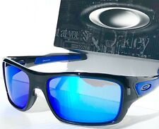 NEW* Oakley TURBINE Black Ink frame w Sapphire Blue Lens Sunglass 9263-05