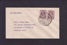 SIAM Thaïlande 1924 premier vol airmail cover Ubol à Bangkok bilingue PCM RARE