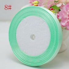 "Free Shipping wedding festival 25 Yards 3/8"" 10mm Craft Bows Satin Ribbon Mint"