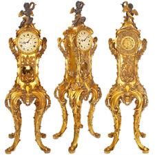 GRAND-ROYAL PRESENTATION CLOCK ca.206cm monumentale STANDUHR, goldene BAROCK UHR