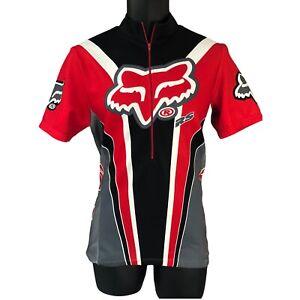 Fox Motorcross ATV Dirt Bike Cycling Jersey Top Red Medium