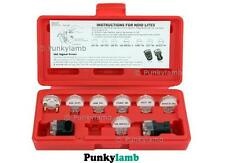 9Pc Electronic Fuel Injection Signal Noid Lite Tester Light Test Car Garage Kit
