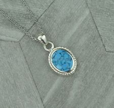 Sterling Silver November Scorpio Birthstone Pendant Necklace - Turquoise Howlite