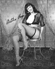 Bettie Page signed sexy hot beautiful 8X10 photo picture poster autograph RP 6