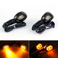 Front Rear LED Turn Signals Blinker Indicator Amber For Kawasaki NINJA 250R A01