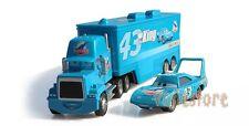 2PCS Disney Pixar Car No.43 Mack Racer's Truck & The King Toy Car 1:55 Loose New