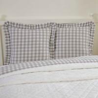 ANNIE BUFFALO GREY CHECK Fabric Euro Sham Primitive Farmhouse VHC Brands