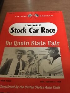 1969 USAC Stock Car Racing Program Du Quion State Fair Grounds Don White Cover