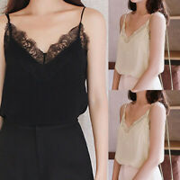 Women Ladies Summer Lace Vest Top Sleeveless Blouse Casual Tank Tops T-Shirt New